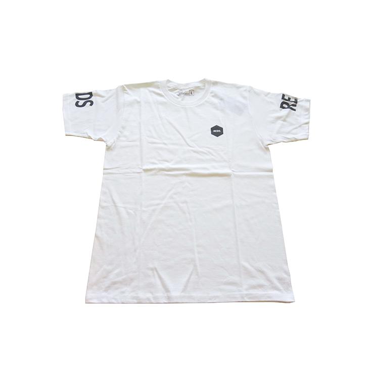 19Tシャツ(袖REDS)/白