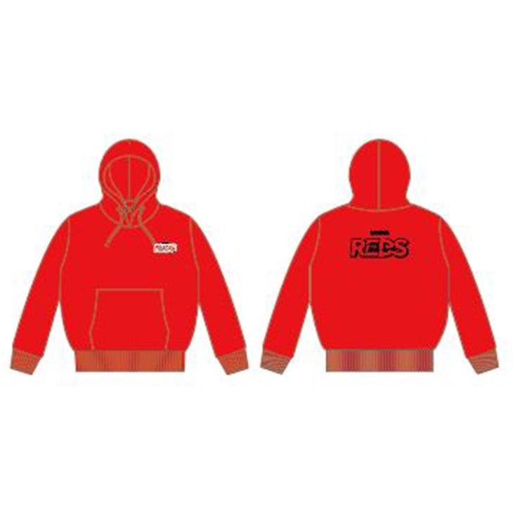 19KIDS裏パイルパーカー(REDS) 赤