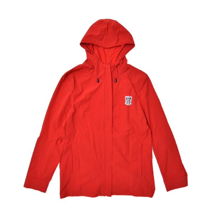 ストレッチフードパーカー(赤)