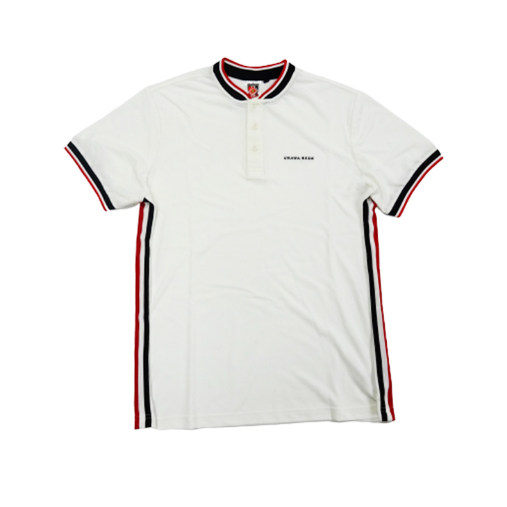 ラインポロシャツ(白)