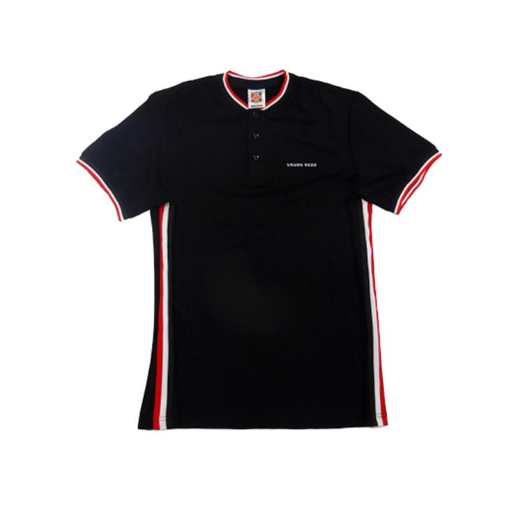 ラインポロシャツ(黒)