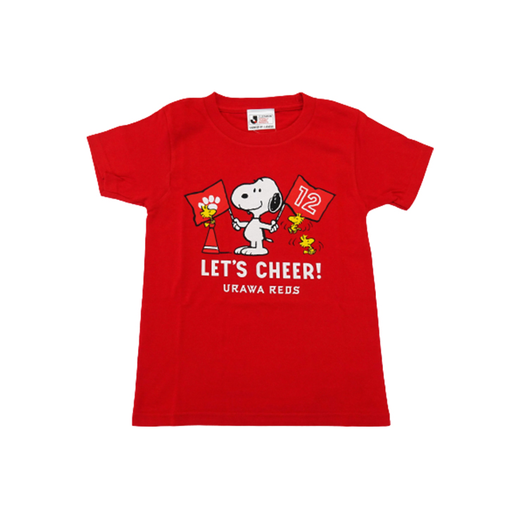 スヌーピー Tシャツ (チア柄) キッズ