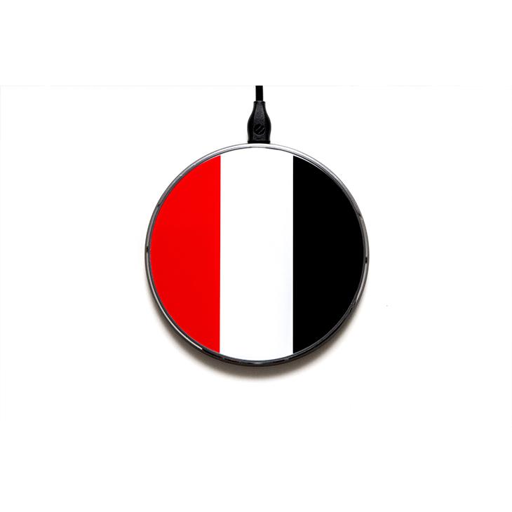 ワイヤレスチャージャー(赤白黒)