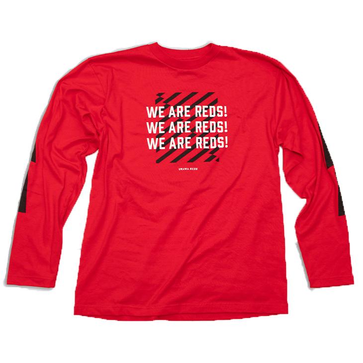 ロングスリーブTシャツ (WE ARE REDS)/赤