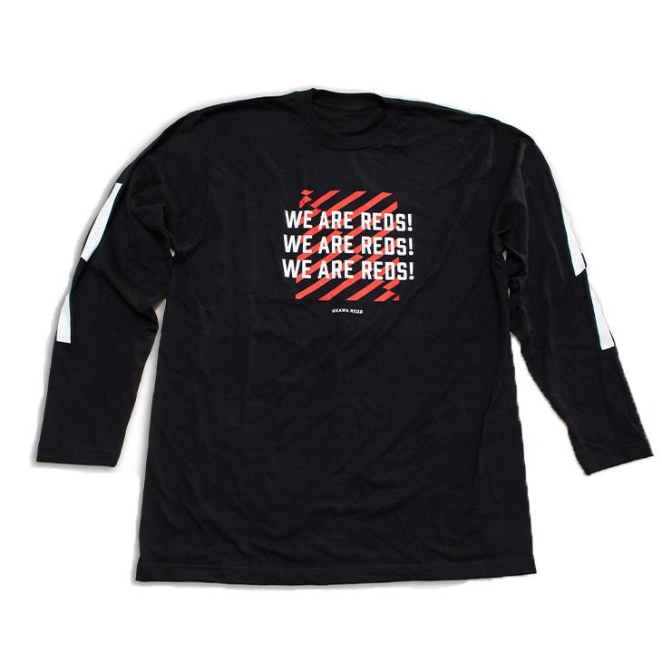ロングスリーブTシャツ (WE ARE REDS)/黒