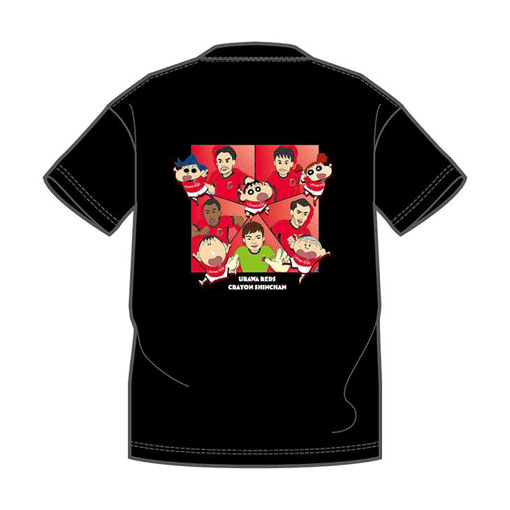 クレヨンしんちゃんコラボTシャツ(黒) ※バックプリントのデザインになります