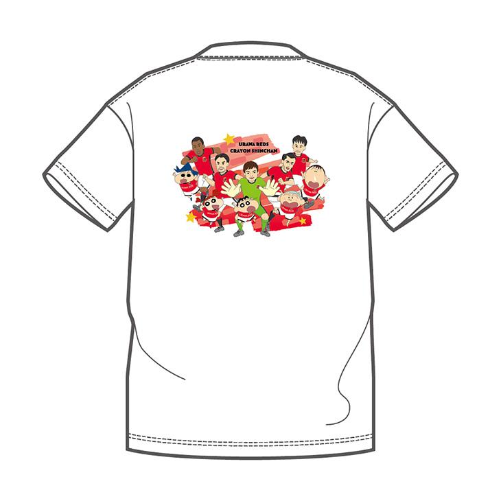 クレヨンしんちゃんコラボTシャツ(白) ※バックプリントのデザインになります