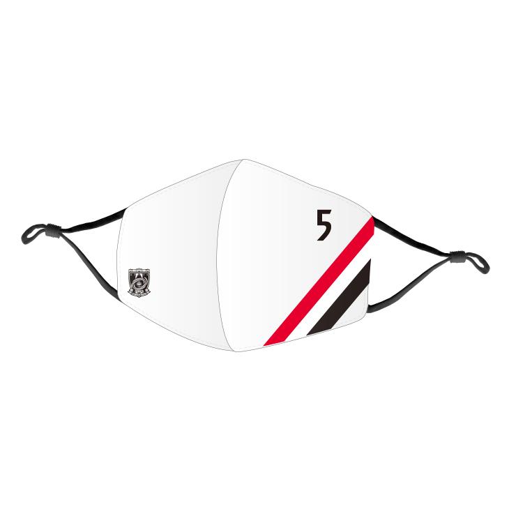 洗えるマスク4(スラッシュ)/白(背番号)