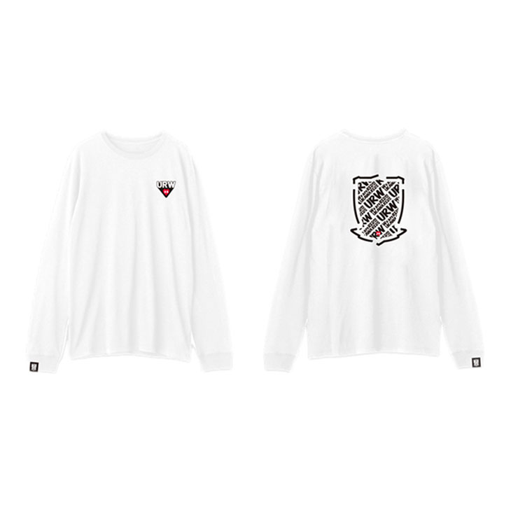 ネーム&ナンバー展開ロングTシャツ (ORIGINAL/ロゴ) 白