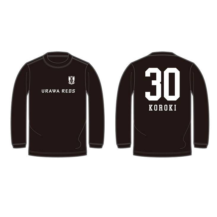 ネーム&ナンバー展開ロングTシャツ (BASIC/エンブレム&ロゴ) 黒