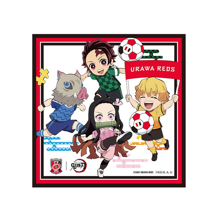 スポーツ2021×鬼滅の刃 ミニタオル 4キャラクター集合(デフォルメ)