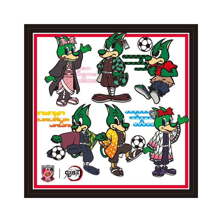 スポーツ2021×鬼滅の刃 ミニタオル マスコット着せ替え集合(デフォルメ)